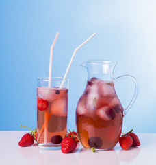 Berry drink with ice