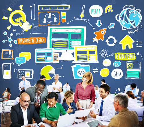 Responsive Design Responsive Quality Content Share Online Concep