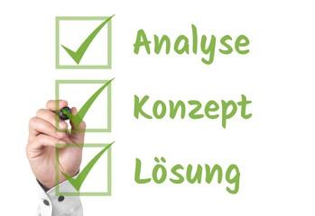 Analyse - Konzept - Lösung