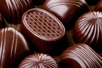 Closeup brown chocolate