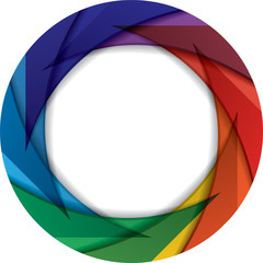 Colorful circle with rainbow colors