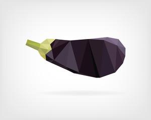 Low Poly Eggplant or Aubergine