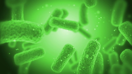 green Bacteries X-Ray.