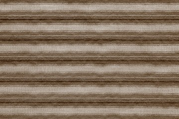 horizontal texture of striped fabric brown color