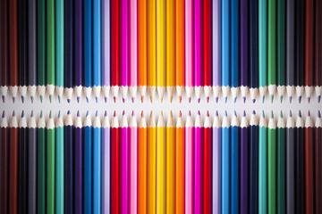 Bright picture of colored pencils
