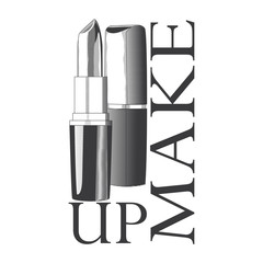 logo with the image of lipstick