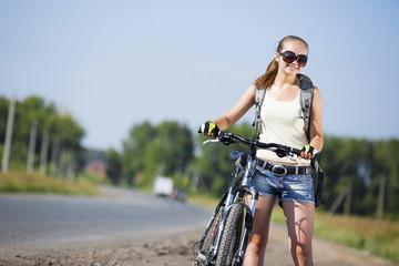 Summer bike walk