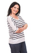 Happy casual woman with arms folded
