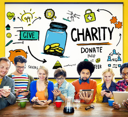 Charity Donate Help Give Saving Sharing Support Volunteer