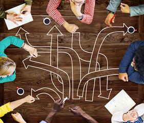 Direction Intersection Decision Option Chance Concept
