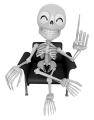 3D Skeleton Mascot is a great idea rushed upon my mind. 3D Skull