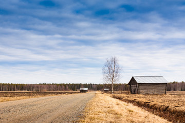 Gravel Road To The Barns