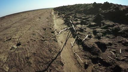 Edge of earth road