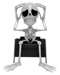 3D Skeleton Mascot That problem is such a headache. 3D Skull Cha