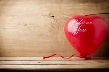 Red love balloon.