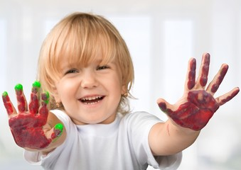 Preschool. Handprint Art