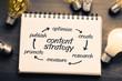 Leinwandbild Motiv Content strategy