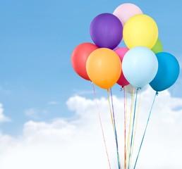 Balloon. Group of Ballons on White