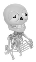 3D Skeleton Mascot offered up prayers to God the Father. 3D Skul