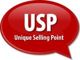USP acronym word speech bubble illustration poster