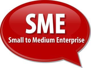 SME acronym word speech bubble illustration
