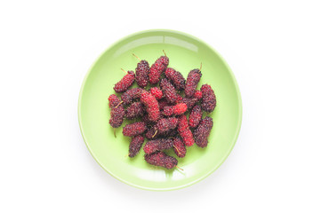 Mulberry in Green Dish