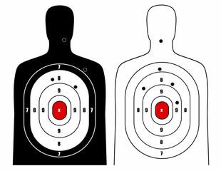 Black and white human target
