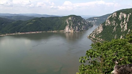 Beautiful landscape on the Danube Gorge .Dubova bay.