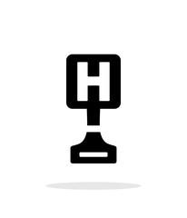 Hospital award simple icon on white background.