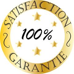Logo di garanzia di soddisfazione