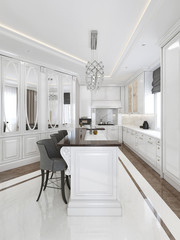 Bright kitchen classical style