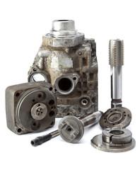 part of car high pressure pump and tool for repair