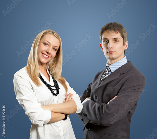 young business people with crossed hands
