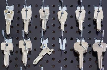Keys for cutting on a  wall