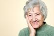 Cute old senior lady portrait