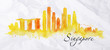 Silhouette watercolor Singapore - 81927809