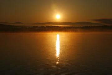 Восход солнца над заливом