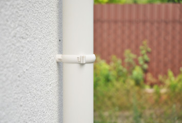 Rain gutter system with copy space. Add your text.