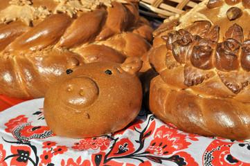 traditional ukrainian festive bread