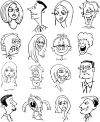 cartoon people characters faces