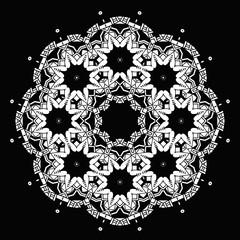 Round ornament. Ethnic mandala. Vector art