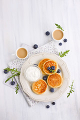 Traditional cottage cheese pancakes