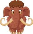 ������, ������: Cartoon cute mammoth