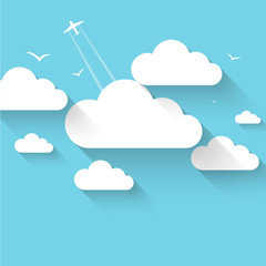 Cloud theme vector background.