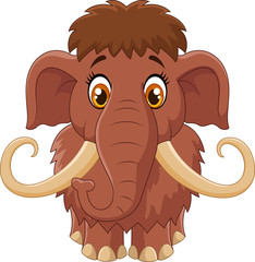 Cartoon cute mammoth