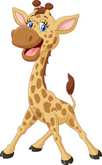Cartoon smiling giraffe