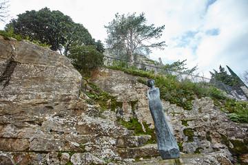Statue of the Eze cactus garden
