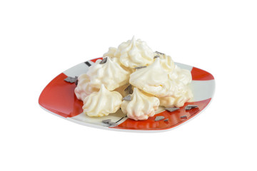 meringue pastries isolated on a white background