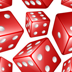 Vector dices seamless background