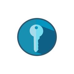 Flat key icon. Isolated from white background